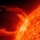 photo credit: Massive solar flares can send out masses of charged subatomic particles which break through our magnetic field and affect electrical equipment. NASA
